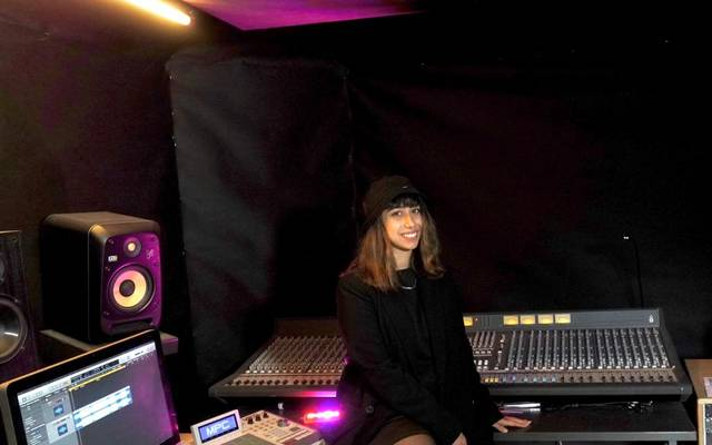 "Sophia im ""Alpha Record Tunes"" Studio in Essen."